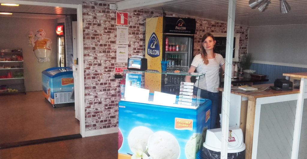 butik och kiosk med glass och godis i Bergkvara Torsås